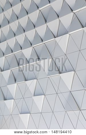 Abstract 3d illustration architectural illustration of white triagles