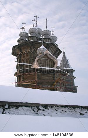 Northen Russian architecture - open-air museum Kizhi, Karelia