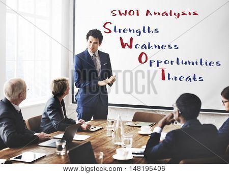 Swot Analysis Strengths Weakness Concept
