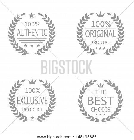 Laurel wreath badge set Authentic Original product Exclusive product Best choice