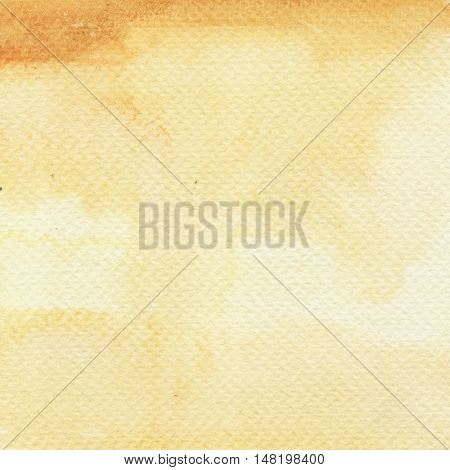 Watercolor hand painted gradient in yellow colors. Abstract Autumn palette background.