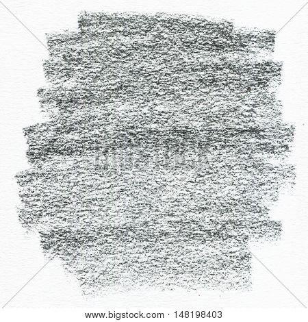 Charcoal hand drawn texture on watercolor paper background. Black and white pattern.