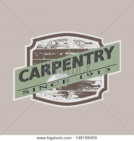 Vintage carpentry icon using as company template vector illustration