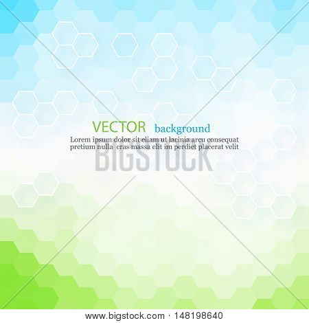 Blue abstract vector background Design template EPS10