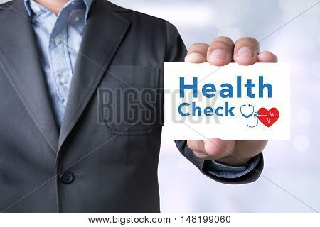 Health Check Message On The Card