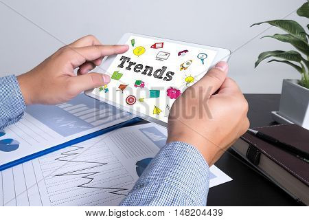 New Trends Future Bussiness Growing Concept