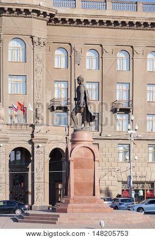 Monument To Alexander Nevsky. Volgograd
