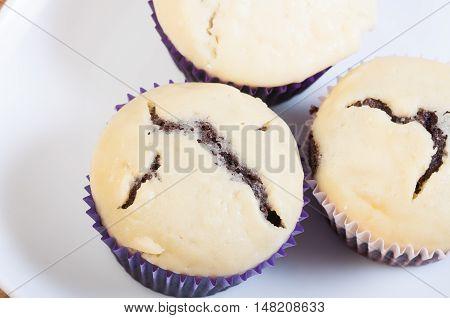 black bottom cupcake, a chocolate cupcake with cream cheese on top