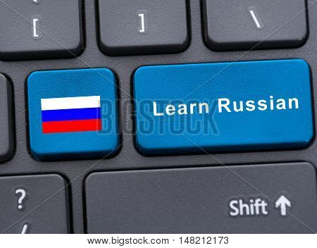 Russian Flag Button On The Keyboard