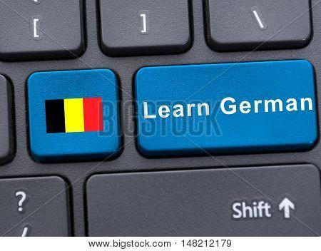 Closeup Key With Deutsch Flag