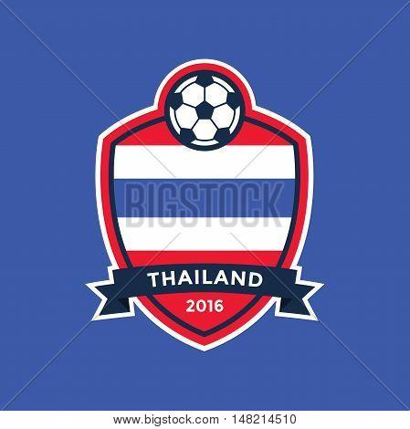 Thailand soccer team with flag. vector illustration