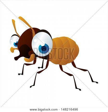 vector cartoon cute animal mascot. Funny colorful cool illustration of happy Termite