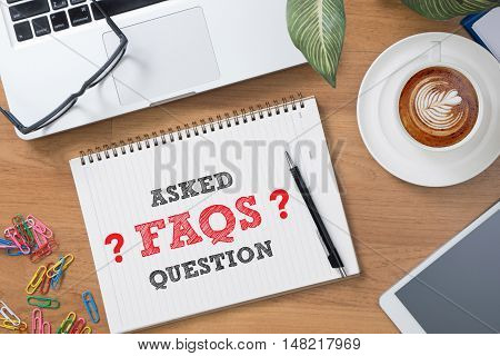 Frequently Asked Questions Faq Feedback Concept businessman working