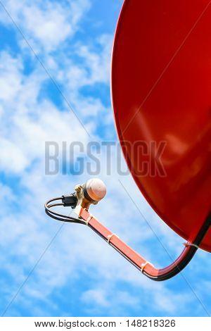 Satellite Dish over blue sky