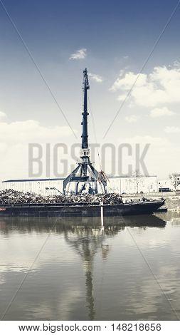 Harbor Crane And Scrap Metal