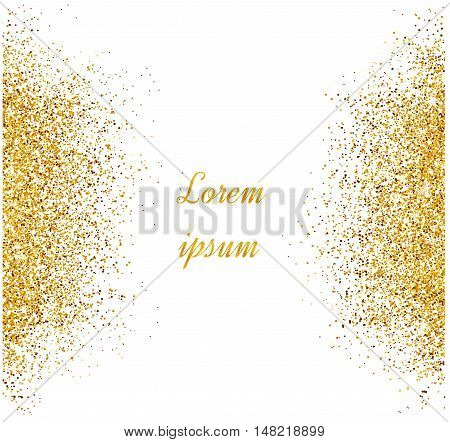 Abstract Gold Glitter Background.  Bright Sparkles For Card