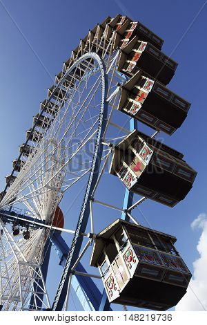 The high ferry wheel at the Oktoberfest in Munich