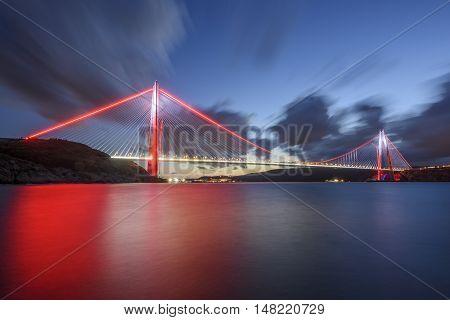 new bridge of the Istanbul bosphorus, named Yavuz Sultan Selim.