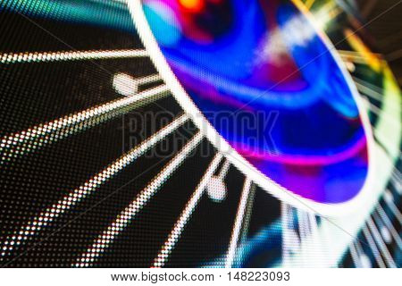 Bright colored LED video wall with high saturated pattern - close up background with shallow depth of field