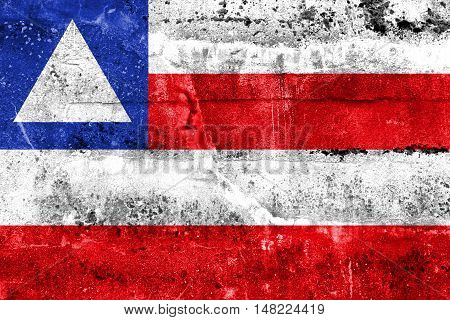 Flag Of Bahia State, Brazil, Painted On Dirty Wall