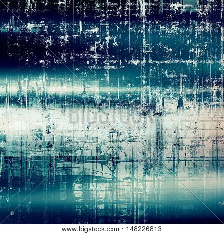 Retro abstract background, vintage grunge texture with different color patterns: gray; blue; black; cyan; white