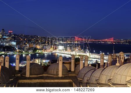 Istanbul bosphorus bridge named 15 July martyrs bridge.