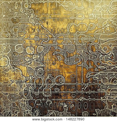 Abstract grunge background or aged texture. Old school backdrop with vintage feeling and different color patterns: yellow (beige); brown; gray