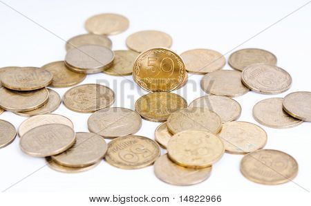 Abstract background: bronze coins