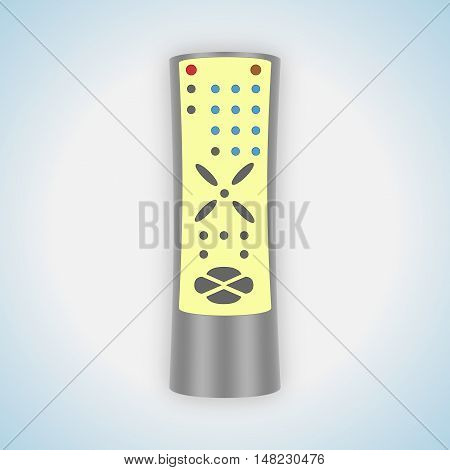 Abstract gray remote control of home appliances.