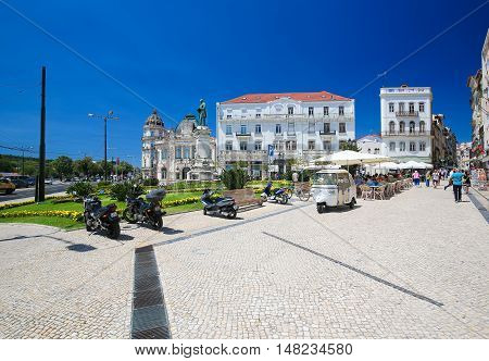 Largo Da Portagem In Coimbra, Portugal