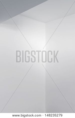 Empty white room interior detail as bright abstract geometric background
