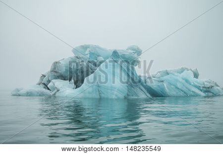 Iceberg in arctic nature for background. in travel.