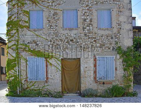 An historic old building in the small Italian town of Valvasone in Friuli Venezia Giulia.