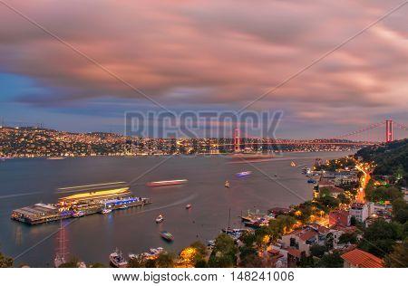 Great Bosphorus Landscape from Istanbul in Turkey