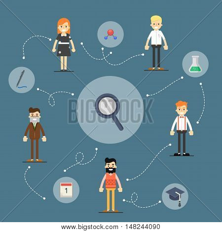 Business success and business team concept. Success teamwork people. Social media and social network people connect. Teamwork people together vector. Business team and teamwork concept. Teamwork people partnership and teamwork business community concept.