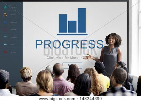 Progress Result Summary Chart Concept