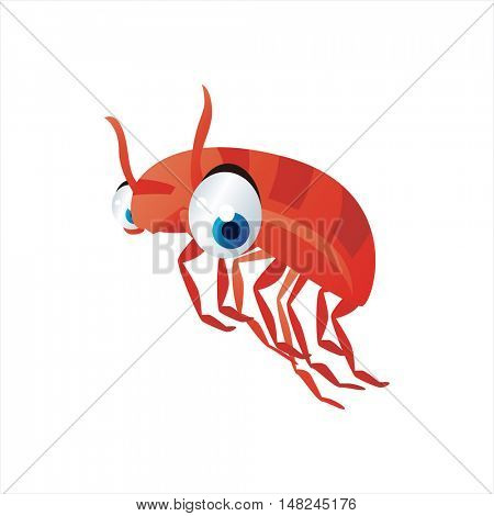 vector cool image of animal. Funny happy sealife creature. Crayfish