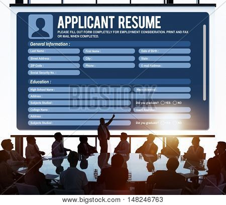 Resume Career Recruitment Employment Occupation Concept