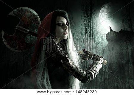 Dark Red Riding Hood