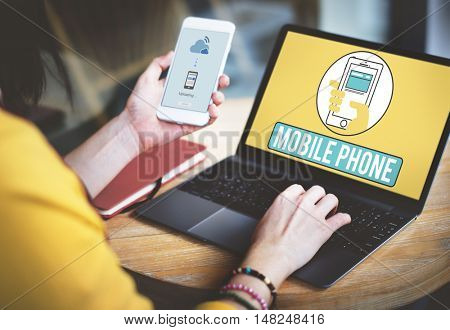 Mobile Phone Cellphone Cellular Communicate Concept