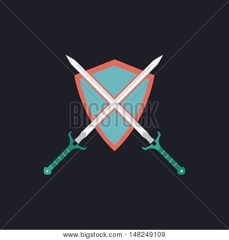 heraldry Color vector icon on dark background