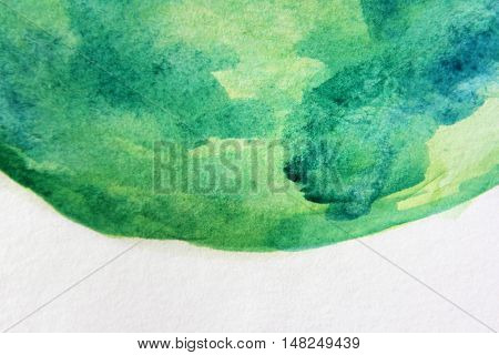 Macro Green with Blue Watercolour Textures 5