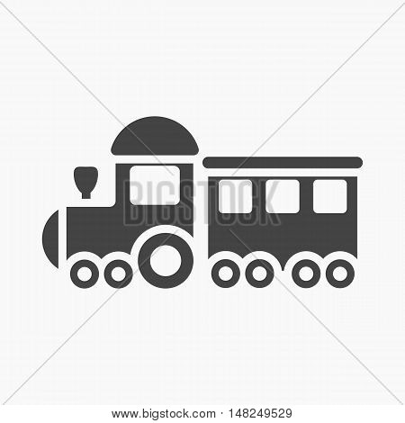 Locomotive black icon. Illustration for web and mobile.