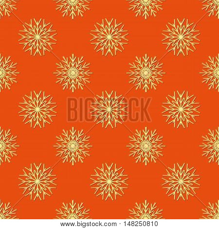 pattern seamless with shapes snowflakes - vector illustration
