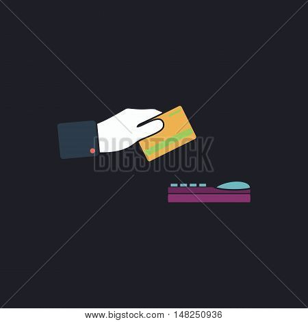 payment Color vector icon on dark background