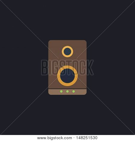 speaker Color vector icon on dark background