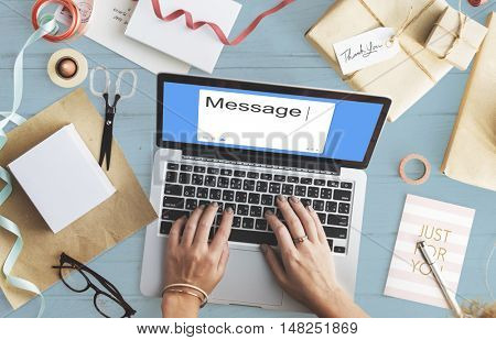 Message Social Network SMS Communication Concept
