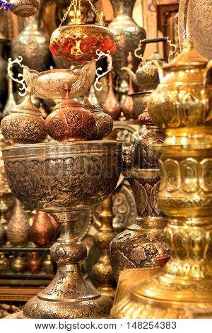 Handicraft made in Esfahan, Isfahan Grand Bazaar, Naqsh-e Jahan Square, esfahan, Iran