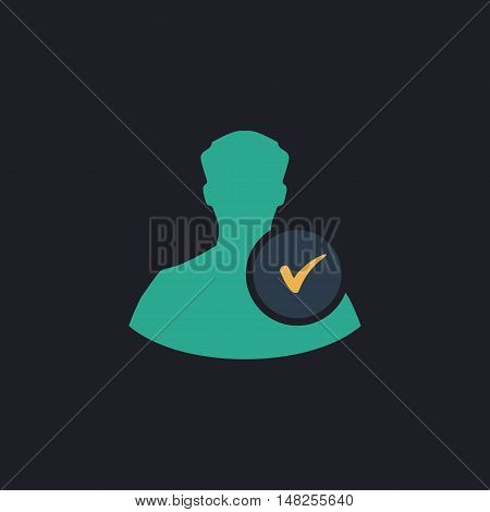 User Color vector icon on dark background