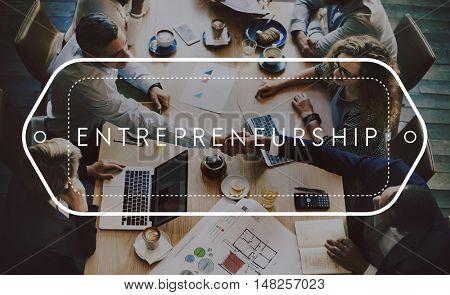 Enterpreneurship Business Organizer Startup Risk Concept